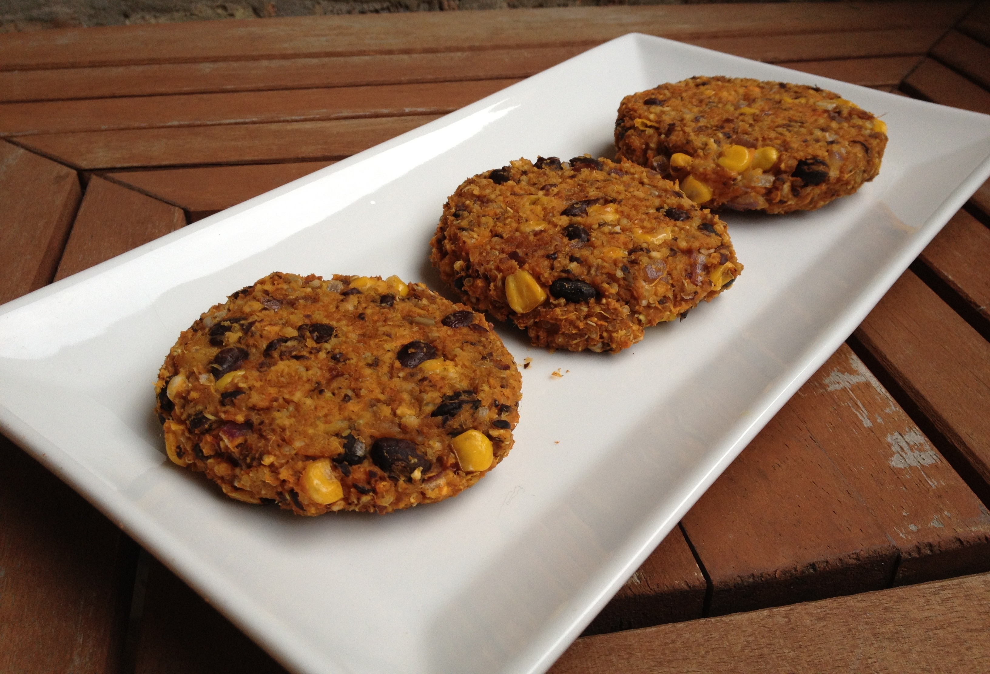 sweet potato & black bean burgers. | Megan Opel Interiors