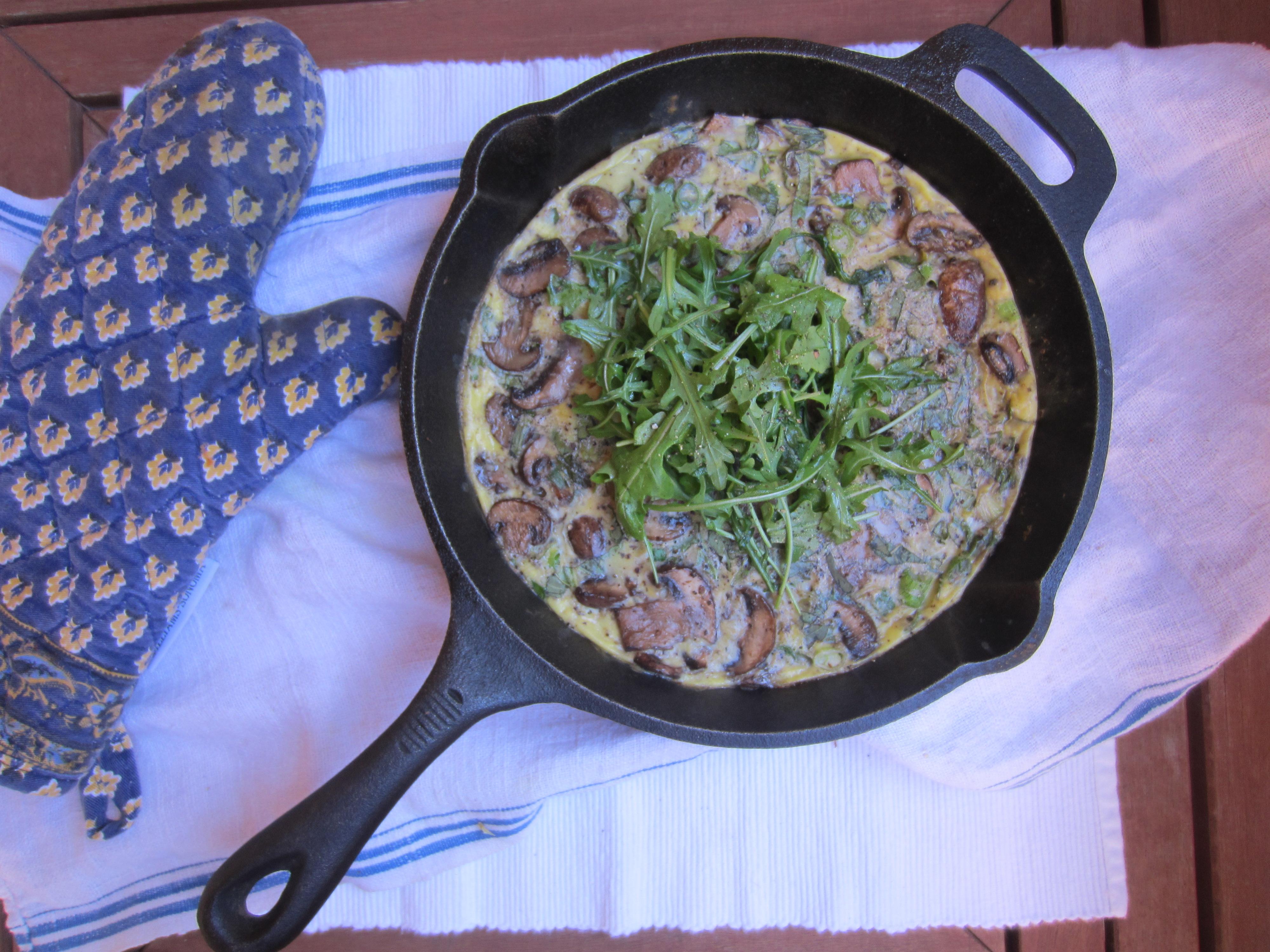 Mushroom Frittata adapted from @Cooking Light from www.meganopel.com