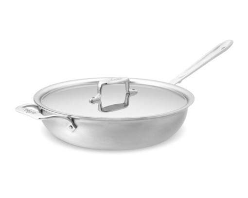 All-Clad d5 Brushed Stainless-Steel Sauté/Simmer Pan, 4-Qt.