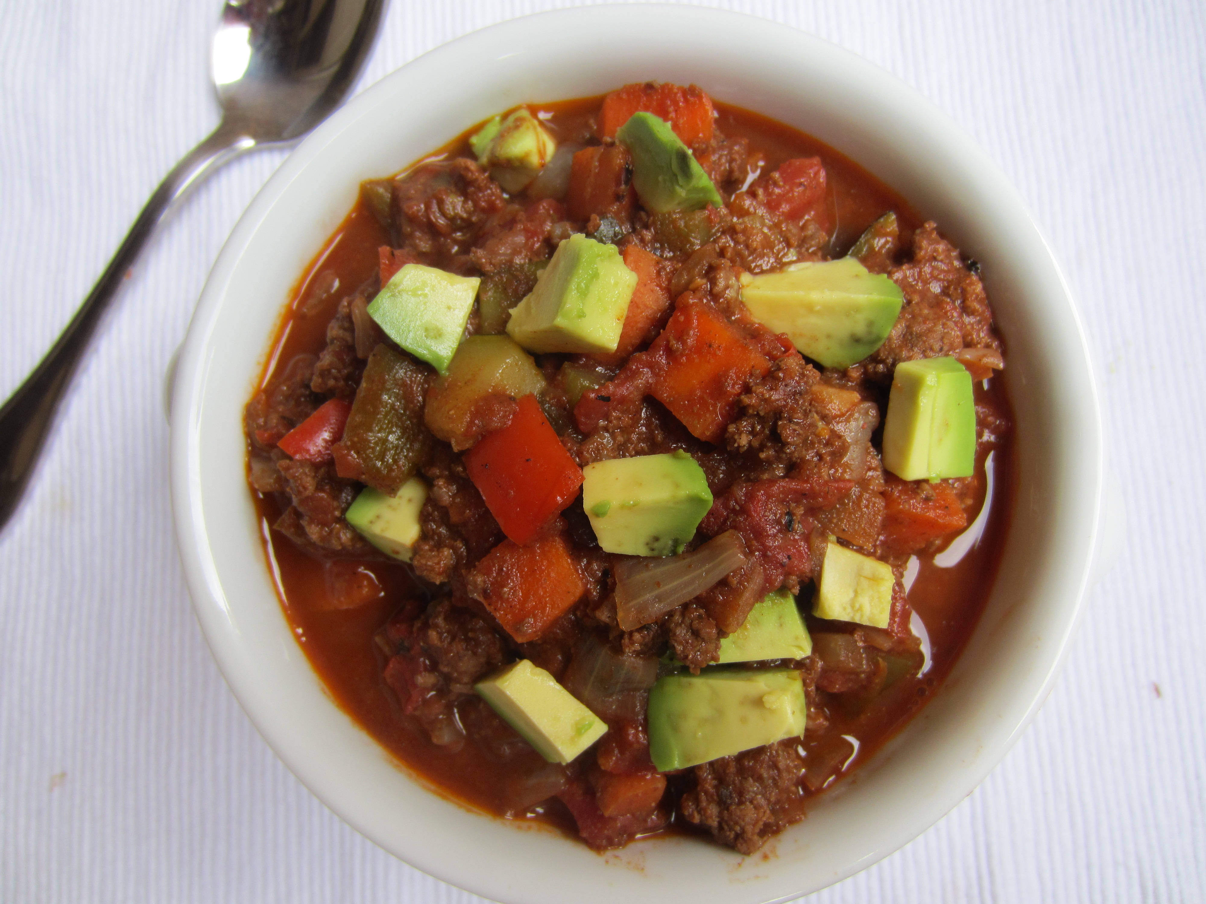 Veggie-Packed Meaty Chili from www.meganopel.com