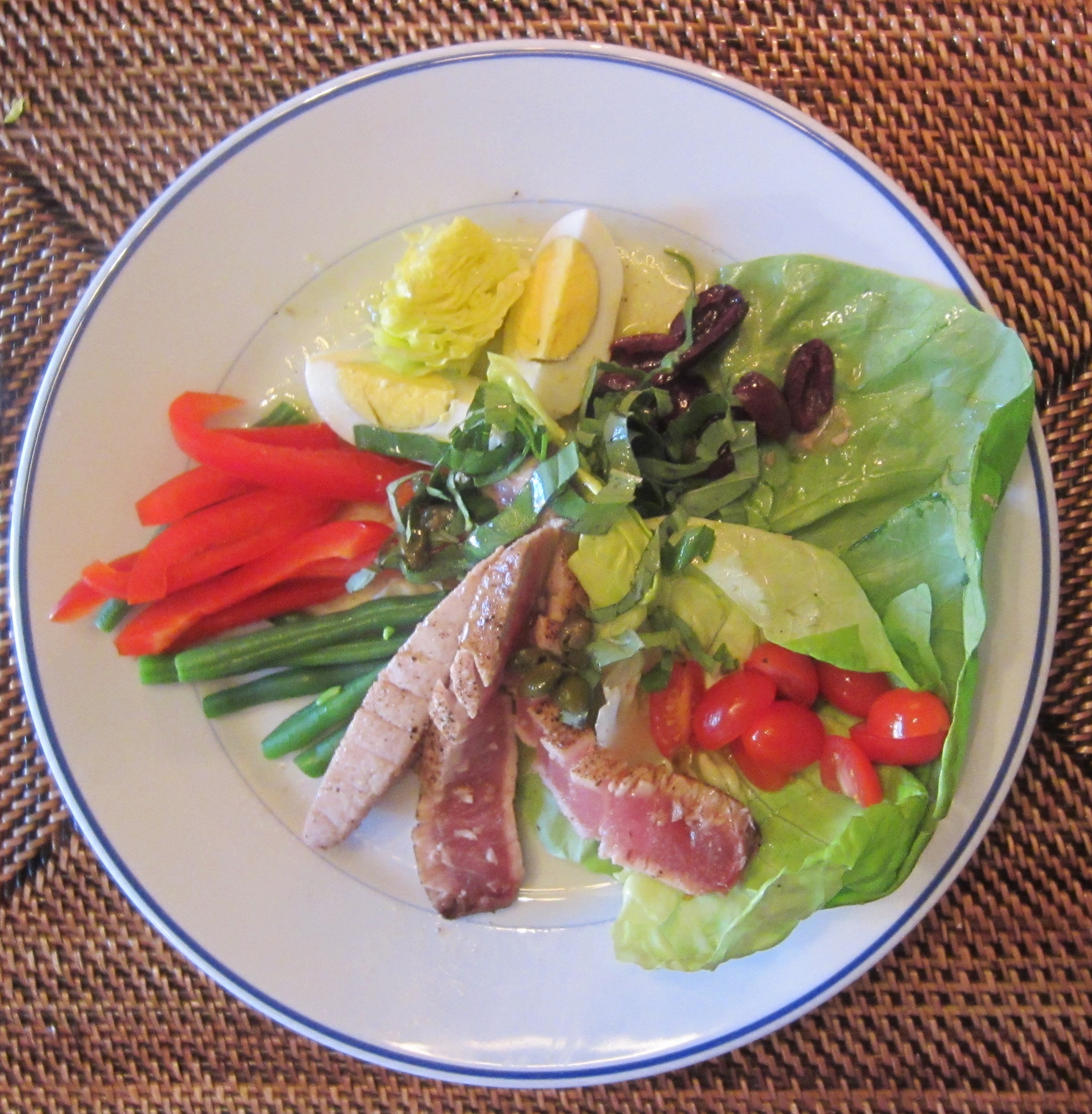 Deconstructed Tuna Nicoise Salad