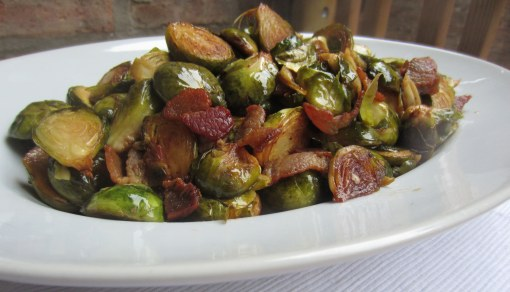 Caramelized Brussels Sprouts with Bacon, Capers, and Lemon