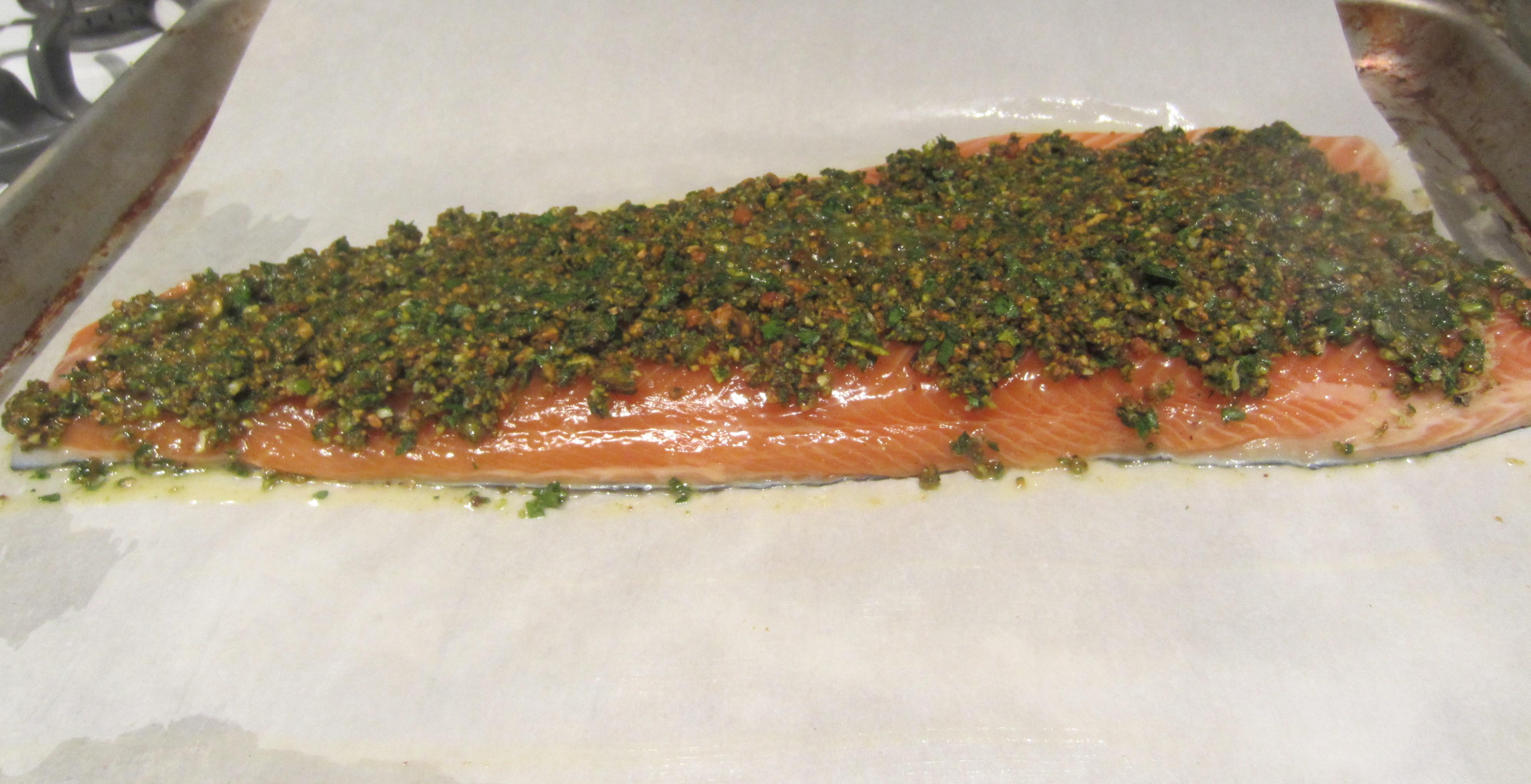 Pistachio-Crusted Salmon
