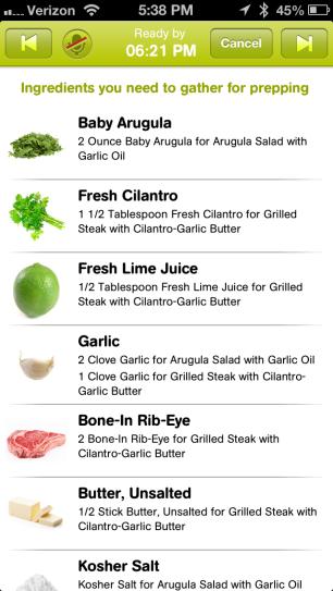 cooking planit app