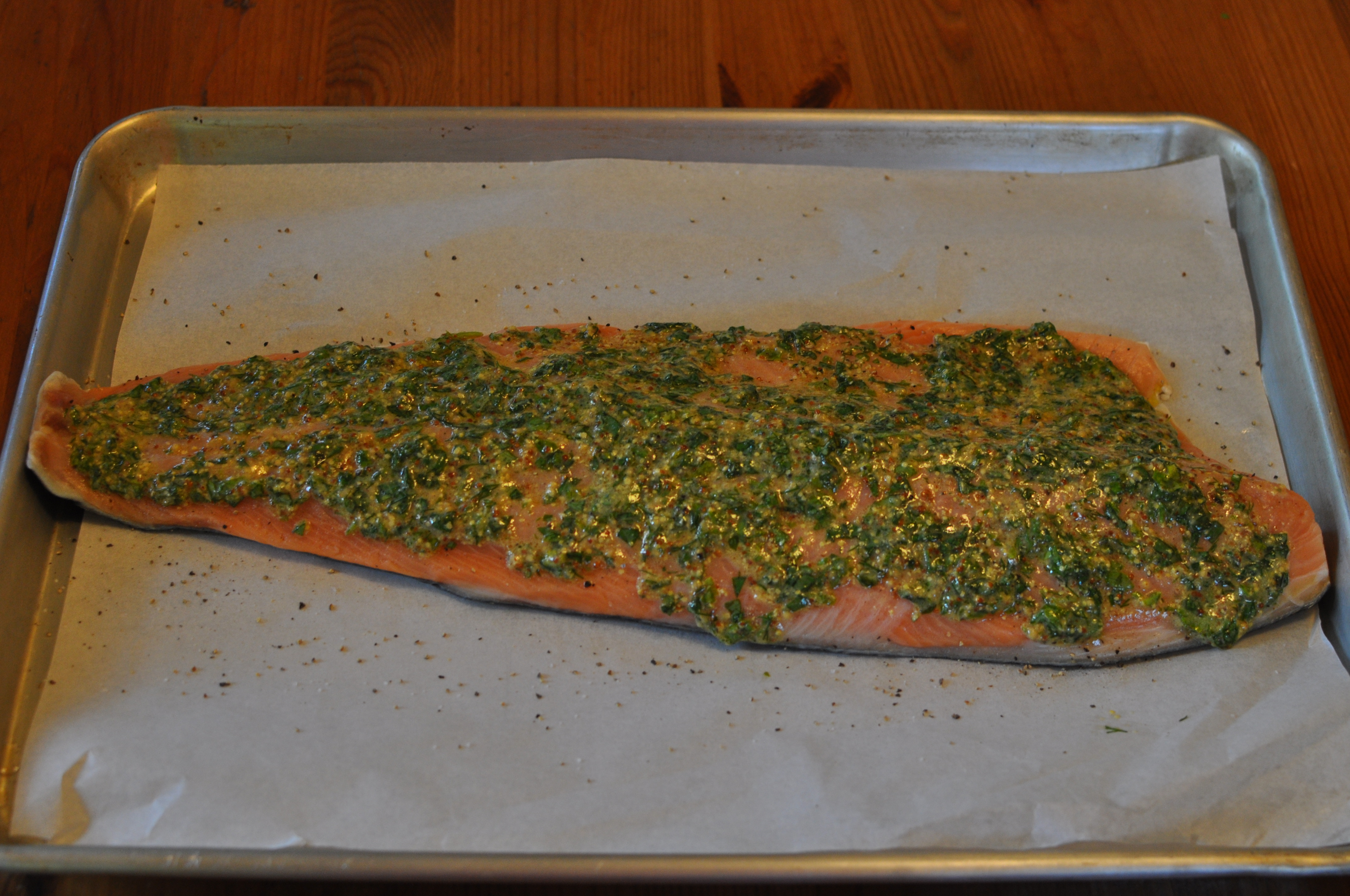 Roasted Salmon with Lemon and Herbs