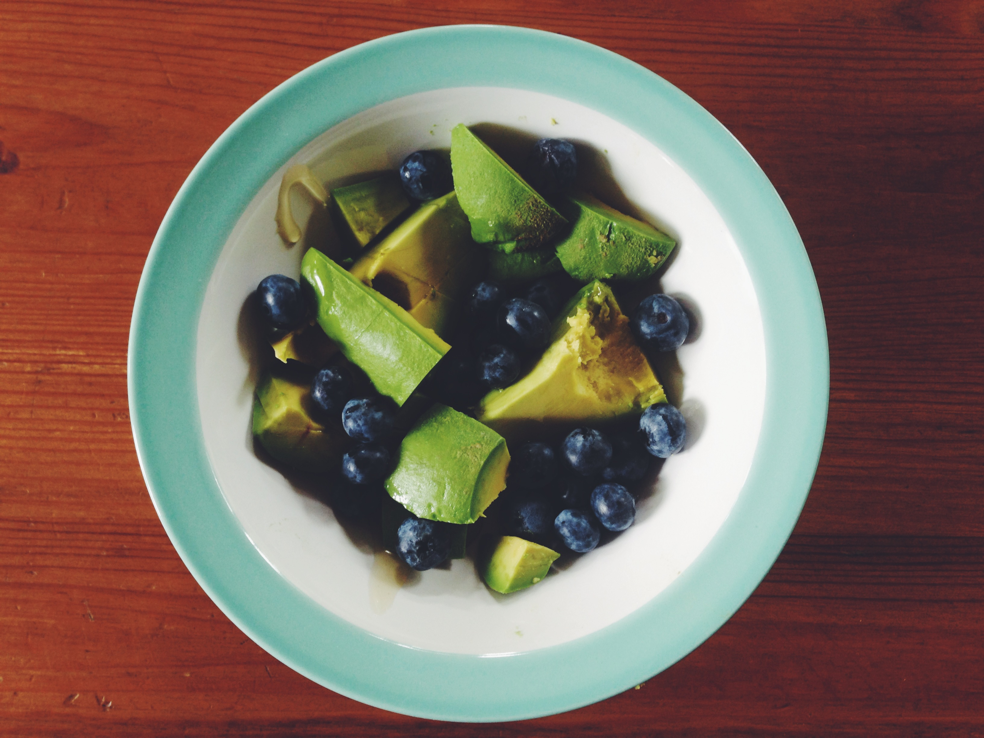 avocados and blueberries